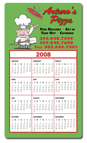 Calendar Magnet 4x7 sample